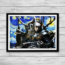 Lexa The 100 Alycia Debnam Carey Art Print Commander Heda Starry Night size A3