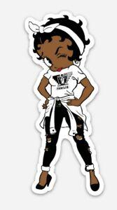 Betty Boop Raiders MAGNET - Oakland Las Vegas Sin City Raider Nation California