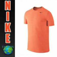 Nike Men's Size Large Dri-Fit S/S Training Shirt Orange 848888