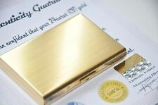 Business Credit Card Wallet Holder Stainless Steel Pocket Case 24K Gold Plated