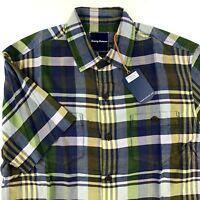 Tommy Bahama Camp Shirt Casa Plaida Sanibel Blue 100% Silk T317726 New Medium M