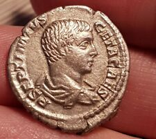 Römische Münze Kaiser Geta Denar Minerva