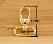 Lobster Clasps Clips Claw purse hooks Swivel snap hook light gold 32mm 6pcs AC27