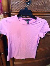Banana Republic Women's Pink Nylon S/S Short Sleeve Shirt Top Small NWOT