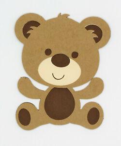 Cute Teddy Bear Die Cut Paper Scrapbook Embellishment Cardstock