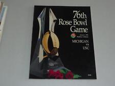 1990 Rose Bowl Program Michigan Usc Near Mint