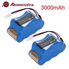 2Pack 7.2V 3000mAh NiMH Vacuum Battery For Euro-Pro Shark V1950 VX3 XB1918 V1917