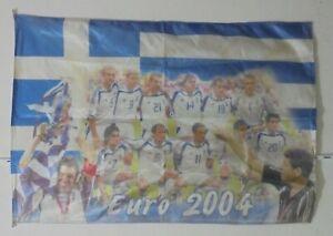 EURO 2004 GREECE CHAMPIONS FLAG 27'' X 40''