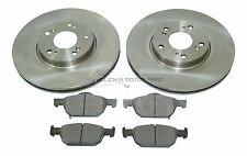 for HONDA ACCORD 2.0 2.2 I-DTEC 08-14 FRONT 2 BRAKE DISCS AND PADS SET (296MM)