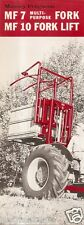 Farm Equipment Brochure - Massey Ferguson - MF 7 10 - Fork Lift - c1962 (F2788)