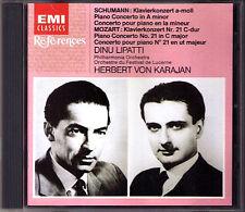 Dinu Lipatti: Schumann piano concerto Mozart No. 21 KARAJAN CD Piano concerts