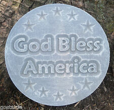 God Bless America plaque mold garden ornament stepping stone