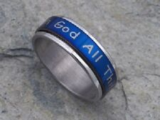 ALL THINGS ARE POSSIBLE Christian Spinner Ring - Stainless Steel***