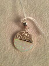 Sterling Filigree Opal Pendant Beautiful Birthday Mother's Day Gift 925 Silver