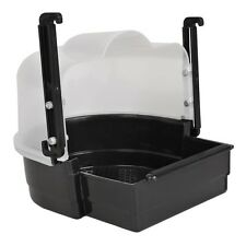 Adjustable Bird Bath, 22cm By Trixie, Black Plastic Bird Bath, New Parrot Bath