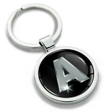 A - Z Alphabet Letter Initial Metal Keyring Keychain with Giftbox Key Ring Chain