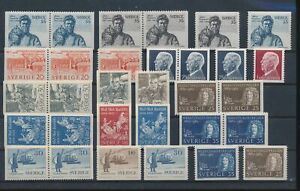 LN72180 Sweden mixed thematics nice lot of good stamps MNH