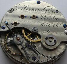 E-Howard boston Taschenuhr werk Blatt ohne Funktion not working movement  (WX3)
