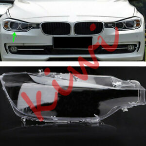 1*Right Side Replace Headlight Cover Clear PC& Glue  For BMW 3 series F30 13-16
