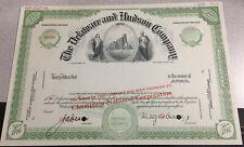 Specimen Stock Certificate. Delaware & Hudson Company