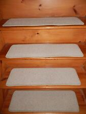 """13 Step 9"""" X 30"""" Stair Treads Staircase  WOOL WOVEN CARPET Jute Backing."""