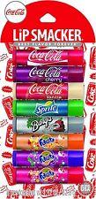 Lip Smacker Coca Cola Flavors 8 pcs Lip Balm New