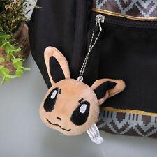 2.5in Pokemon Eevee Plush Soft Doll Pokedoll Christmas Gifts Mini Keychain