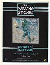 Rolling Stones 1997 Bridges to Babylon Tour ad 8 x 11 advertisement print