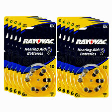 60 x Rayovac Special 10 Size Hearing aid batteries Zinc air 10 Packs EXP:2020