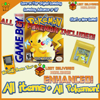 Pokemon Yellow Pikachu Enhanced | ALL 151 Original Pokemon with all items
