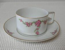 IMPERIAL ROSALINDA FLAT CUP & SAUCER Heinrich H&C Vintage Porcelain SELB Bavaria