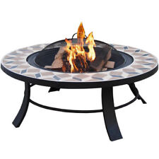 Terrassenofen Feuerschale Feuerstelle Grill Gartenfeuer Feuerkorb BBQ-Toro