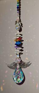 🌈 Hanging Guardian Angel Crystal Suncatcher Large Window Chakra Rainbow Maker