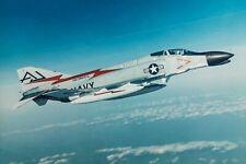 "US NAVY VF-74 F-4B PHANTOM - ORIGINAL McDONNELL 10"" x 7"" COLOUR PUBLICITY PHOTO"