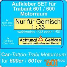 Aufkleber Set für Trabant 600 oder 601 - Motorraum - DDR