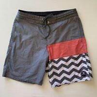 Billabong Board Shorts Mens Size 30 Multicoloured Striped Drawstring Swim Shorts