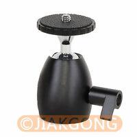 "360° Mini Ball Head 1/4"" Bracket Holder Mount for DSLR Camera tripod DC stand"