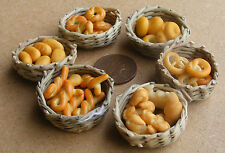 1:12 Scale A Basket Of 6 Hand Made Bakery Items Tumdee Dolls House Miniature