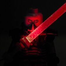 Custom Bricks minifigure Darth Malgus Sith Lord Star Wars Custom LED Lightsaber