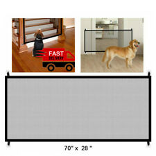 New listing Baby Safety Gate Pets Dog Cat Puppy Mesh Fence Magic Portable Net Stairs Doors