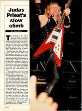 1984 Vintage 4Pg Print Article/Photos Of Judas Priest'S Slow Climb Rob Halford