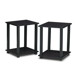 Furinno 12127 Simplistic End Table, Set of Two, Multiple Options