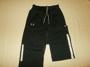 UNDER ARMOUR BLACK ATHLETIC PANTS MENS SMALL EXCELLENT CONDITION