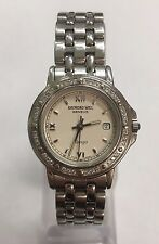 Ladies Raymond Weil Geneve Tango 5360 Ivory Silver Stainless Gemmed 27mm Watch