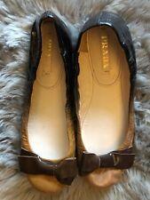 PRADA Ombré Patent Leather Flats. Size 39