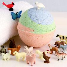 """KIDS Barnyard Buddies Bath Toy Farm Animal Replica Inside 3"""" XL Bath Bomb"""