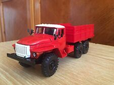 Ural 4320 red 1:43   Russian 6X6 delivery truck model 1/43 USSR