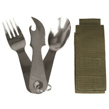 Stainless Steel Military Army Camping Eating Utensils Knife Fork Spoon KFS Set