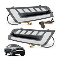Set DRL on Fog Lamp Light Trim For Ford Ranger T6 Pickup Top Model 2015 2016 17