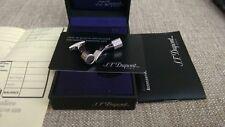 ST Dupont Paris Palladium Diamond cut Cufflinks polished in box with guarantee